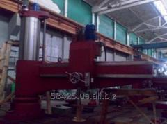 Construction work on modernization of machine