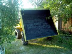 Services pass the dump truck (damper)