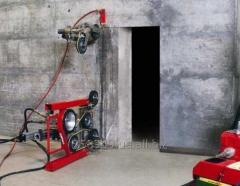 Резка бетона канатной машиной