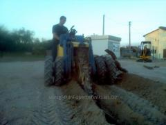 Digging of trenches for waterings of fields