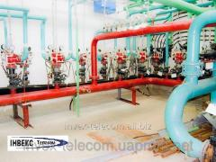 Installation of sprinklers and fire fighting
