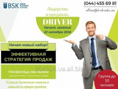 Leadership on sales. Driver. Start of the program