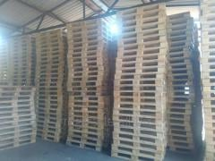 Partition of pallets. Sorting of pallets.