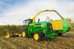 Repair of hydraulic drive harvester John Deere