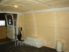Thermal insulation of all-metal vans