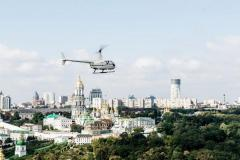 Flight over Kiev by Robinson R66 helicopter