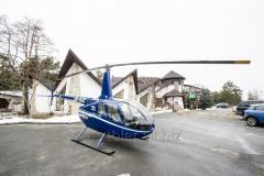 Flight by Robinson R66 helicopter over Kiev
