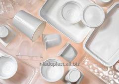 Vacuum forming of plastics