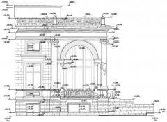 Построение обмерных чертежей фасадов