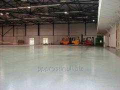 Installation of liquid polymer flooring (special