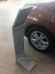 Изготовление торгового оборудования для  автомобильных салонов