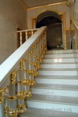 Золочение декора потолков, багетов,  стен, лестниц