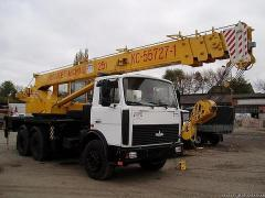 Repair of automobile cranes of any modifications