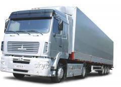 Transportations by motor transport, warehousing