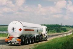 Delivery of ammonia by motor transport