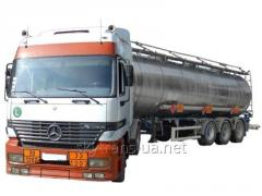 Transportations of cargoes in automobile tanks