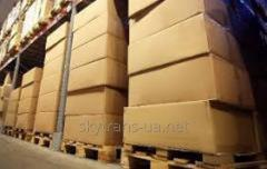 Trans-shipment and storage of cargo on