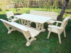 Изготовление деревянной части для садовой мебели