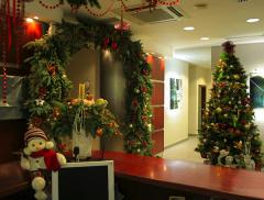 Christmas decoration of the room/building of