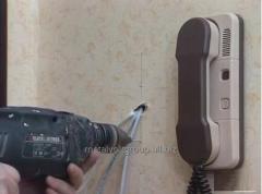 Установка аудио и видео домофонов