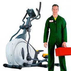 Сервисное и ремонтное обслуживание тренажеров.