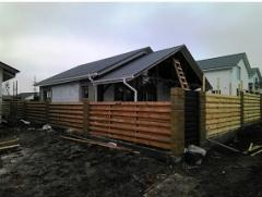 Lightning protection of cottages to 100 sq.m of