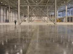 Laying armored industrial floors