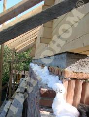Утеплення стін колодязна кладка заливним пінопластом екоізол