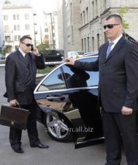 Personal bodyguard services for individuals