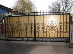 Installation of automatic gate in Cherkasy