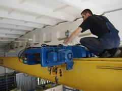 Installation and repair of crane tracks