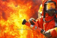 Insurance from fire risks and risks of the spontaneous phenomena