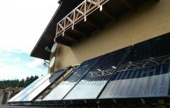 Mounting of sun water heating systems