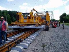 Laying of railway track