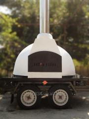 Производство мобильных дровяных печей для пиццы