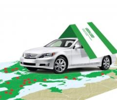 Green card on a car