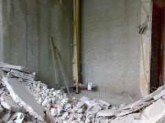 Демонтаж бетона,сантехкабин,стен,перегородок
