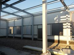 Mounting of pre-fabricated buildings