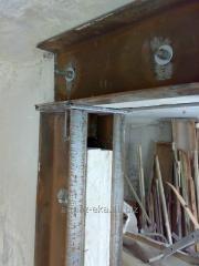 Алмазная резка проемов,стен в квартирах с усилением металлом Харьков.