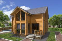 Строительство дома из дерева 40