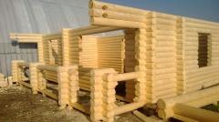 Строительство дома из дерева 001