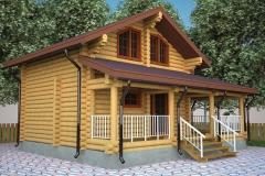 Строительство дома из дерева проект 4