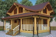 Строительство дома из дерева проект 1