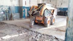 Rent of a hydrohammer on base pass Bobcat loader