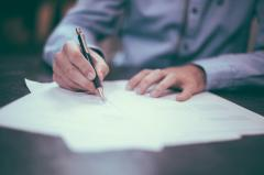 Drawing up of contracts, support of bargains