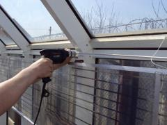 Installation of heating systems of greenhouses