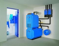 Mounting of boiler equipment