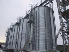 Производство зернохранилищ силосного типа