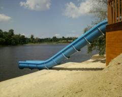 Production of waterslides of any form