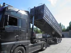 Re-equipment of semi-trailers in the grain-carrier